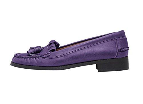 Heine - Best Connections Damen-Schuhe Slipper Violett Lila