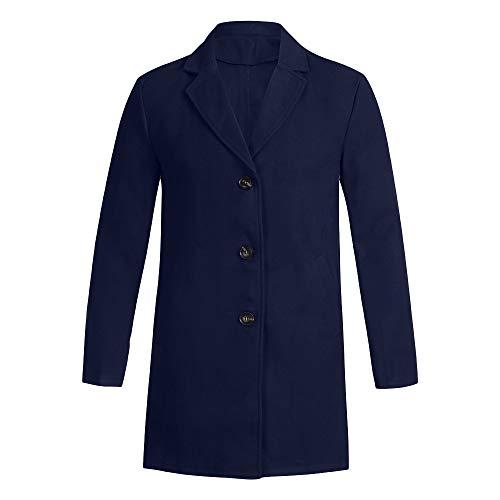 Aoogo Herren Sweatshirt Herbst Winter Button Slim Langarm Anzug Jacke Trenchcoat Top Bluse Langarm Jacke Casual Sweatjacke Retro Mantel Hip Hop Herbst Winter Mantel Strickjacke