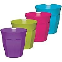 KitchenCraft Colourworks 'Unbreakable' Melamine Tumbler Cups, 280 ml (10 fl oz)