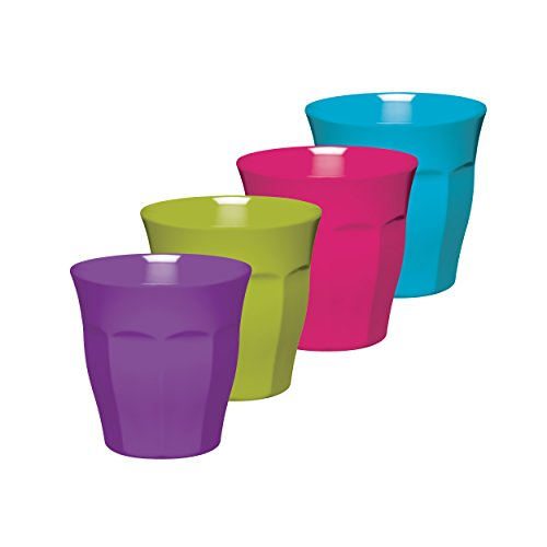 Glas Unzerbrechliches Geschirr (Colourworks Vierteiliges Melamin-Bechergläser-Set, 225 ml)