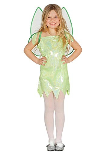 MAGICBOX Costume da fata glitter per bambini stile Green Tinkerbell Large (7-9 yrs)