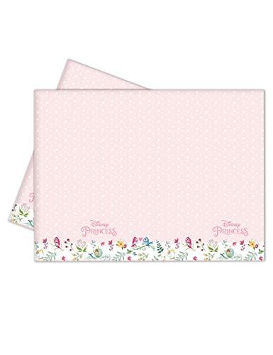 Procos 88961 Tischdecke Disney Prinzessinnen aus Plastik, rosa, weiß