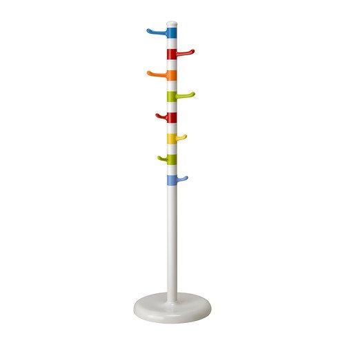Ikea KROKIG-Kleiderständer, weiß, Mehrfarbig-128cm