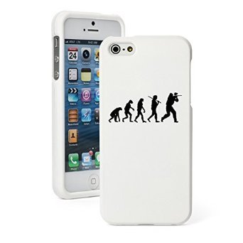 Apple iPhone 4 4s Snap On 2 Piece Rubber Hard Case Cover Evolution Paintball (White)