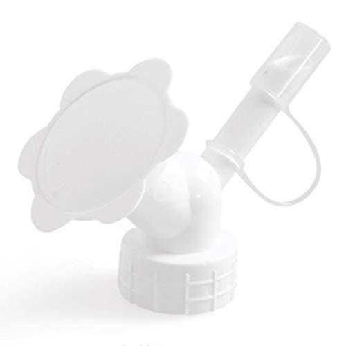 ngshanquzhuyu Bevorzugte Gartenblume Mini-Wasserkanister 2in1 Kunststoff Sprinkler Düse für Blumenbewässerer Flasche Gießkannen Sprinkler Duschkopf für Zuhause Dekoration - weiß (Mini-flaschen Bevorzugt)