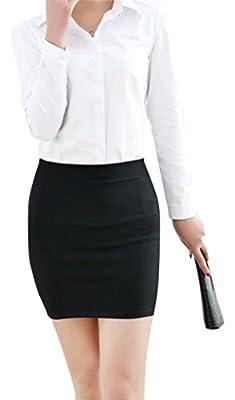 Magna Women's Pencil Mini Skirt - MAG3_Black_Small