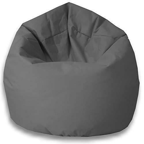 Byufya Sitzsack EPSStyropor Füllung-In&Outdoor verschiedene Farben&Größen-BeanBag Sitzkissen Bodenkissen Kinder Sitzsäcke Relax Game Möbel Kissen Sessel Sofa Gaming(XXL ca.75cm-ca.430 Liter Anthrazit)