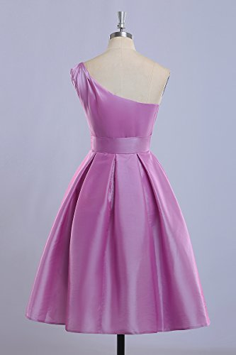 Bridal_Mall -  Vestito  - Monospalla - Donna Hot Pink
