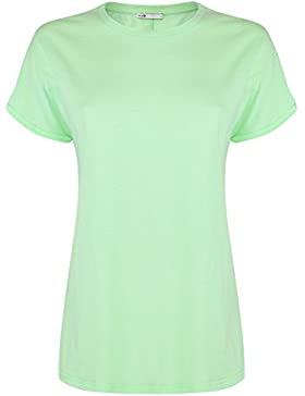 oodji Collection Donna T-Shirt Basic in Cotone