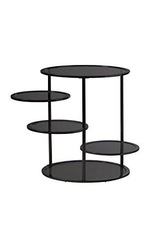 CAMINO A CASA - Table d'appoint design 5 plateaux verre Optical Lents