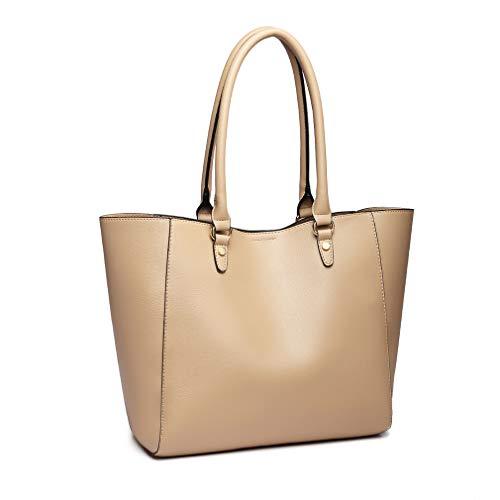 Miss Lulu Handtaschen 2 Stück Set Damen Umhängetasche Designer Schultertasche Hobo Taschen Groß (Apricot)