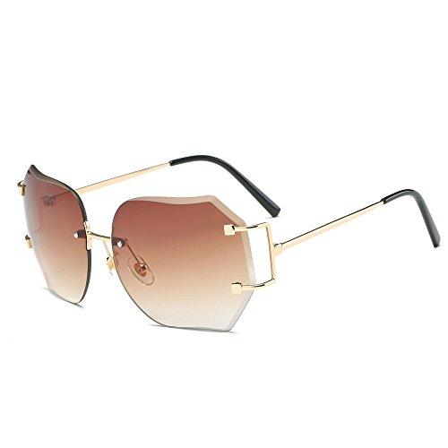 Ginli occhiali sole lenti colorate graduate donna uomo summer vintage retro square gradient color glasses unisex fashion avi