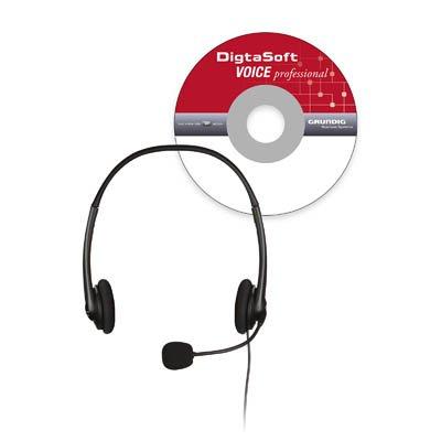 DigtaSoft Voice professional (PDD9431-72), professionelle Spracherkennung mit Digta Headset