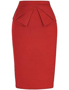 GRACE KARIN Mujer Bodycon Falda para Mujer Falda Lápiz Vintage Falda de Cadera Delgada Tamaño S CL454-2