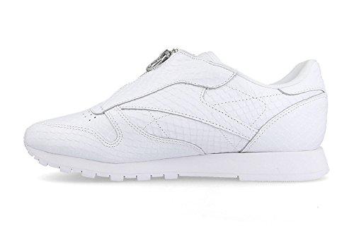 Zip Reebok Damen Classic Leather Zip Weiß (bianco)