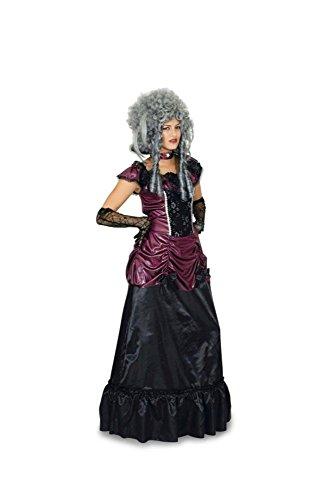 Gräfin Kostüme Die (Barock-Gräfin Damen-Kostüm schwarz-burgund)