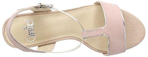 Caprice - 28310, Scarpe col tacco con cinturino a T Donna Rosa (Pink (ROSE/SILVER 597))