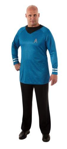 Star Trek Dlx Deluxe Shirt T-Shirt blau Kostüm Gr. XXL