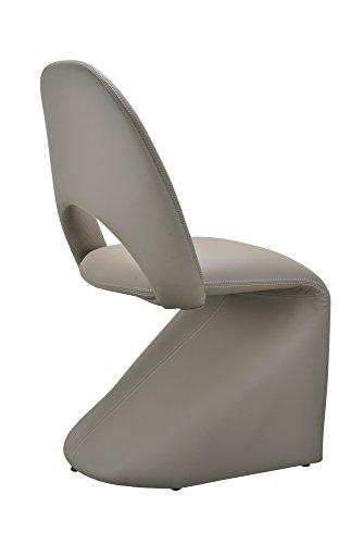 CAVADORE Schwingstuhl 2-er Set LOGAN / 2x gepolsterte Esszimmerstühle in modernem Design / Bezug Kunstleder beige / schlamm Farbe / 52 x 89 x 55 cm (B x H x T) - 5