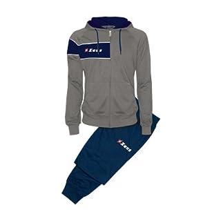 Zeus Survêtement Clio Kit Course Jogging Veste T-Shirt Maillot Pantalon Football à cinq École Sport Tournoi Man Femme Unisex Gris-Bleu (XL)