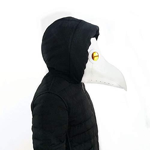 VAWAA Pest Arzt Maske Schnabel Arzt Maske Lange Nase Cosplay Fancy Maske Gothic Retro Rock Leder Halloween Schnabel Maske