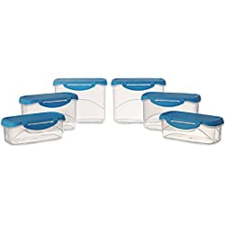 All Time Plastics Delite Container Set, 6-Pieces, Blue
