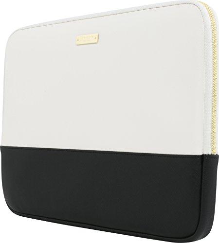 Kate Spade New York Color-Block Sleeve für z.B. Apple MacBook / iPad Pro / Microsoft Surface - schwarz/weiß [Universal 13