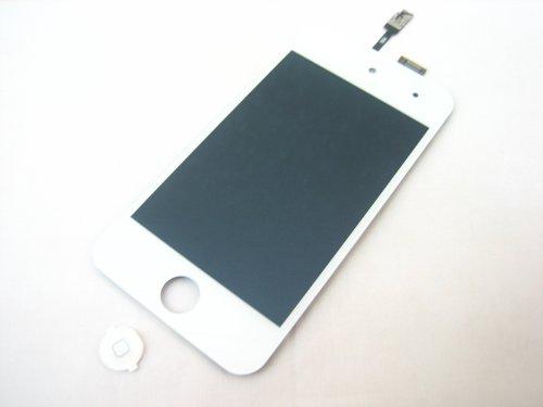 Apple iPod touch 4 4th Gen~bianco display LCD + Touch Screen Digitizer vetro frontale assemblato insieme + tasto Home~parti di ricambio