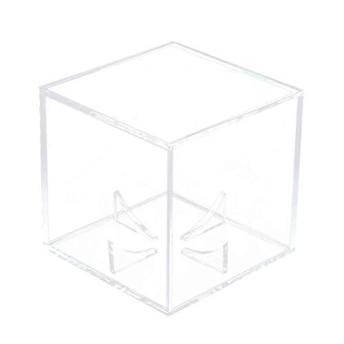 Exceart Baseball-Vitrine Acrylwürfel Baseball-Halter Quadrat Clear Box Display Lagerung Sport Baseball Autogramm Vitrine