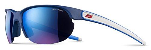 Julbo Breeze Gafas de Sol para Mujer, Azul/Gris/Logotipo Rojo