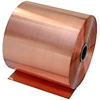 Rollo de cinta conductora de cobre macizo de 1 metro de largo de Rzdeal 0.02mm*100mm
