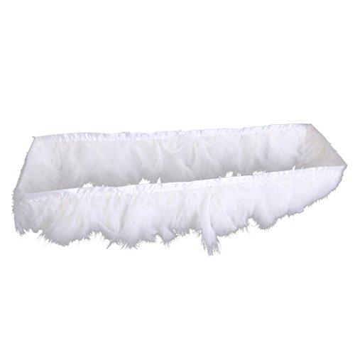 Sharplace Jupe de Table Tutu Skirt Tulle Nappe de Mariage Baby Shower Cadeau Anniversaire Enfants - Blanc
