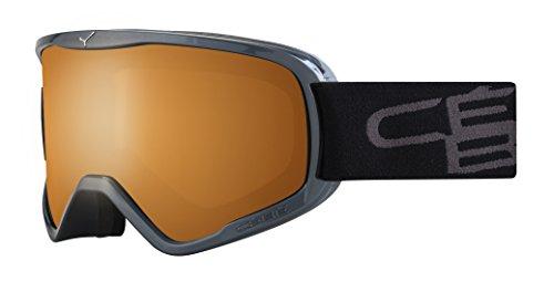 Cébé Skibrille Razor, Grau (Grey/Orange), L, CBG63