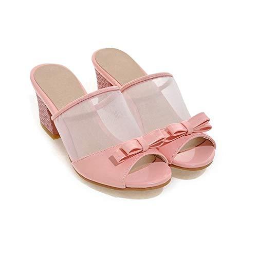 HELUMTXM Pantofole da Donna con Tacco a Spillo Sandali Taglia Grande 30 45 46 47 48 Scarpe da Donna Stile Estivo Scarpe da Spiaggia Casual da casa Pantofole 12 Tacchi Alti Rosa da Donna Tacco