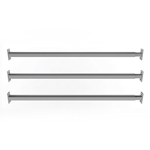 Festnight Einstellbares Fenstergitter Stahl Gitter Sicherheitsgitter mit 4 Querbalken f/ür Fenster von 700-1050mm Breite