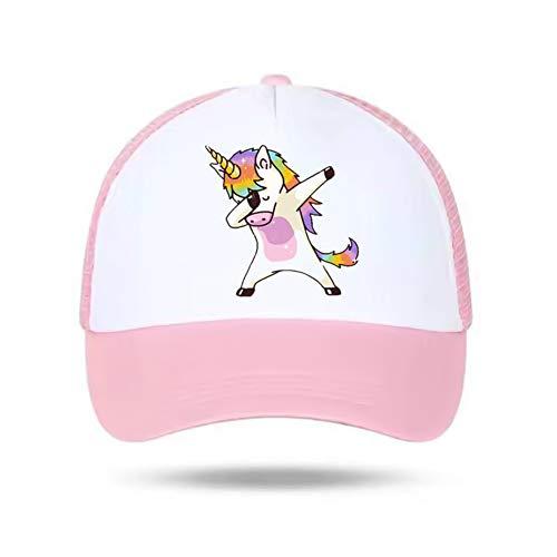 zhongjiany Gorra de béisbol Unicornio para niñas, niños, niños Sombrero de verano, sombrero para el sol, regalo único ajustable(Adjustable Pink)