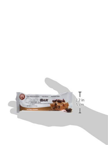 Quest Nutrition 60g Chocolate Chip Cookie Dough Protein Bar – Pack of 12