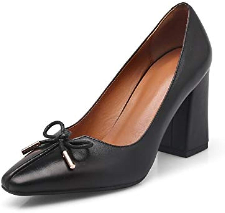 zhznvx des chaussures confort / de de / base vache pompe automne b07gr4rwtw talons chunky talon noir / aFemmede parent c5deb7