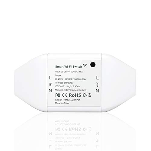 Meross WLAN Schalter Universal Smart WiFi Switch Fernbedienung Sprachsteuerung mit Amazon Alexa, Google Assistant und IFTTT, DIY Smart Home für elektrische Haushaltsgeräte
