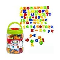SIMUER Magnetic Alphabet Letters Numbers and Symbols Refrigerator Magnets Educational Toys Teaching Aid for Preschool Kids with Bucket 78 PCS