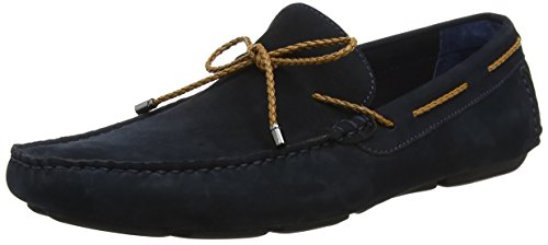 Dune Herren Barnstable Slipper Blue (Navy-Nubuck)