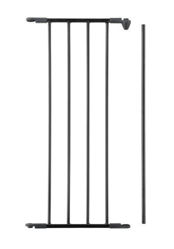 Baby Dan Flex Sektion/Verlängerung, Schwarz, 33 cm: für Schutzgitter Flex M / L / XL / XXL sowie Laufställe Park-A-Kid und Square - hergestellt in Dänemark