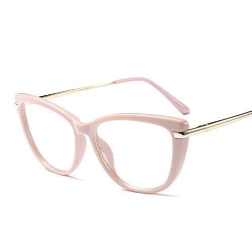 fassung für Herren und Damen, großer Rahmen Durchsichtig Klassische Kostüme Party Halloween. Brille (Farbe : Rosa) ()