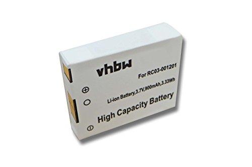 vhbw Li-Ion Akku 900mAh (3.7V) für Gaming Mouse Razer Mamba, RC03-001201, 2012,...