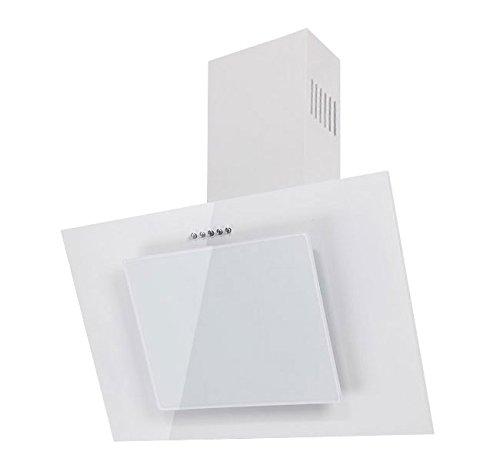 Dunstabzugshaube F.BAYER FIRE 50W Wandhaube 50cm Weiß Weißglas Dunstabzug 500m³/h LED