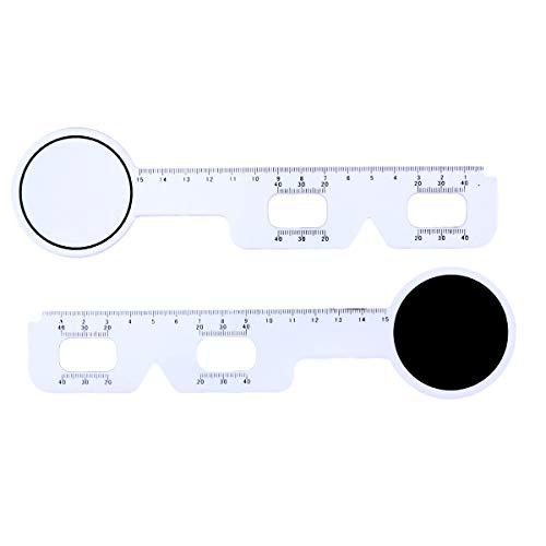 SUPVOX PD Lineal Kunststoff Optische Cursor Lineal Schüler Distanzmessgerät Auge Ophthalmic Werkzeug 5 Stück (Weiß)
