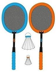 Avento - Volante de niños establece conjunto de bádminton, azul / naranja, 56 x 25 cm / xxl