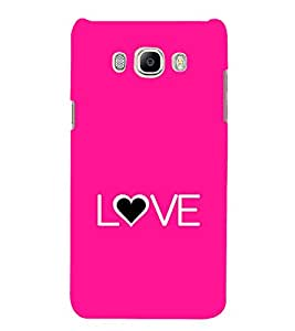 Fiobs Designer Back Case Cover for Samsung Galaxy On8 Sm-J710Fn/Df (Love Dots Lovely Beautiful Pink)