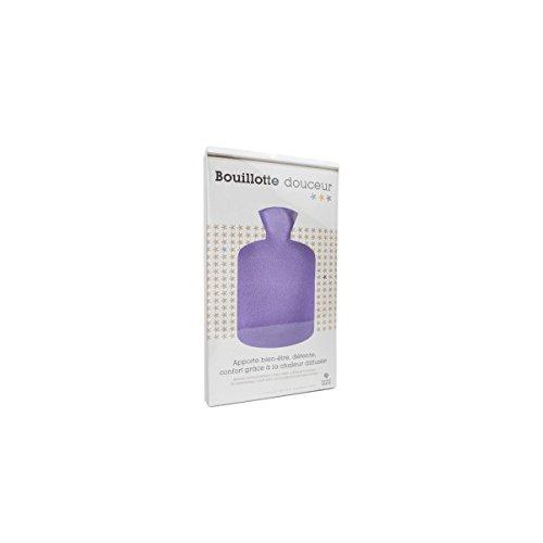 Bouillotte douceur 2 litres violette Marque Verte - 1 bouillotte