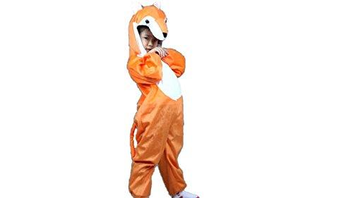Mädchen Fuchs Kostüm - Matissa Tierkostüme Jungen Mädchen Pijama Kostüm Kostüm Cosplay Kinder (Fuchs, XL (für Kinder 120-140 cm hoch), ab 3 Jahren